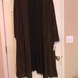 NWT, LuLaRoe XL Sarah duster, elegance collection